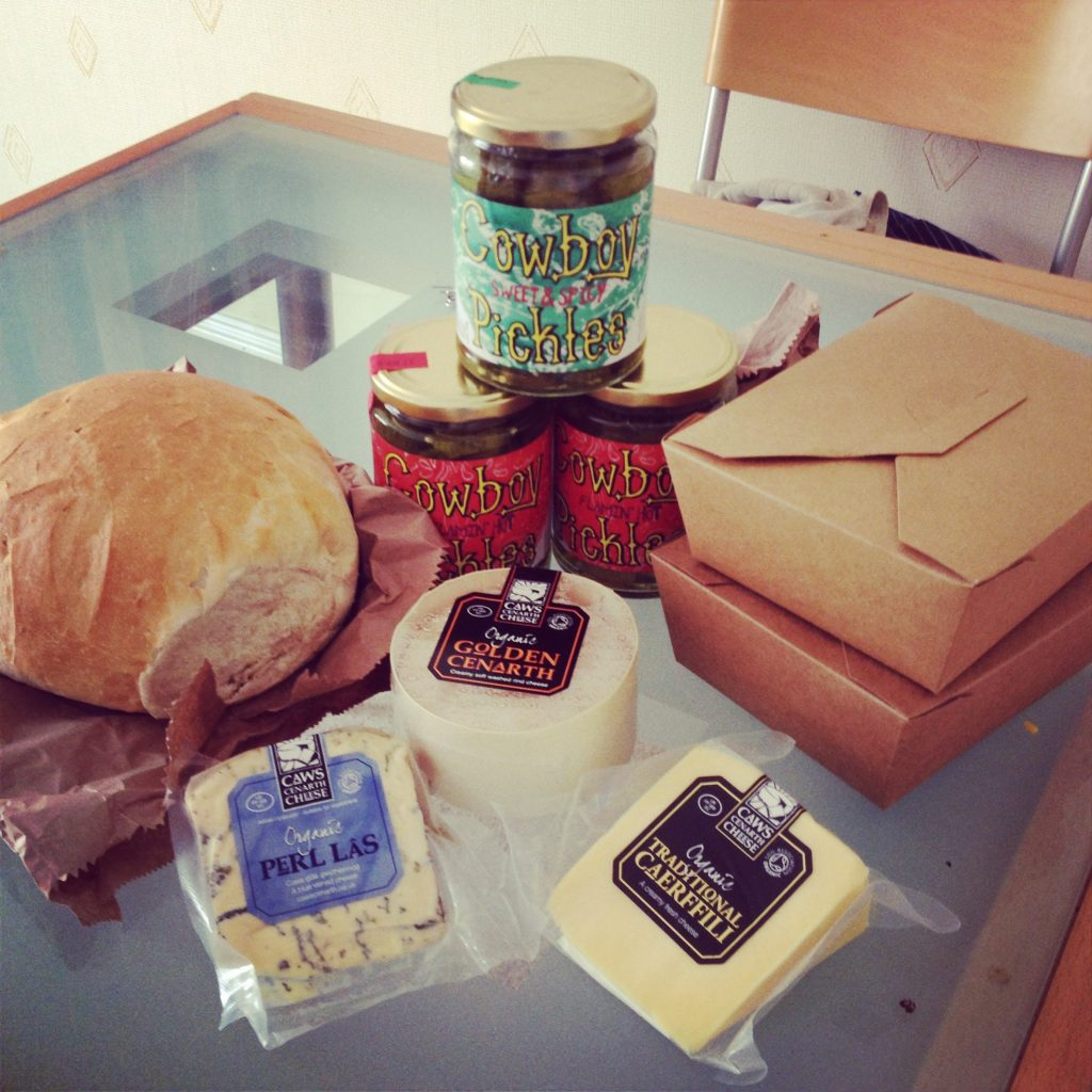 Cheese, pies, pickles and bread