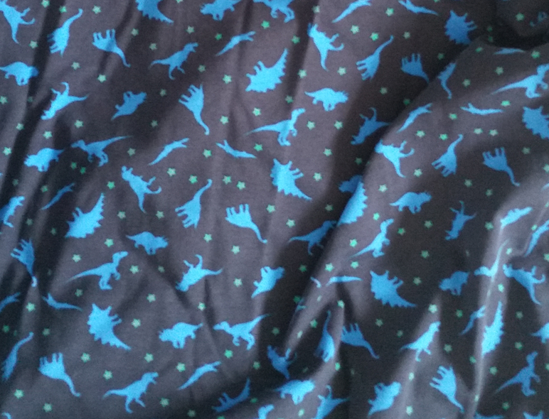 dinosaur print cotton jersey