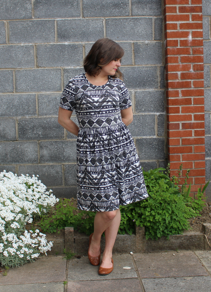Dixie DIY Ballet dress is geometric viscose jersey