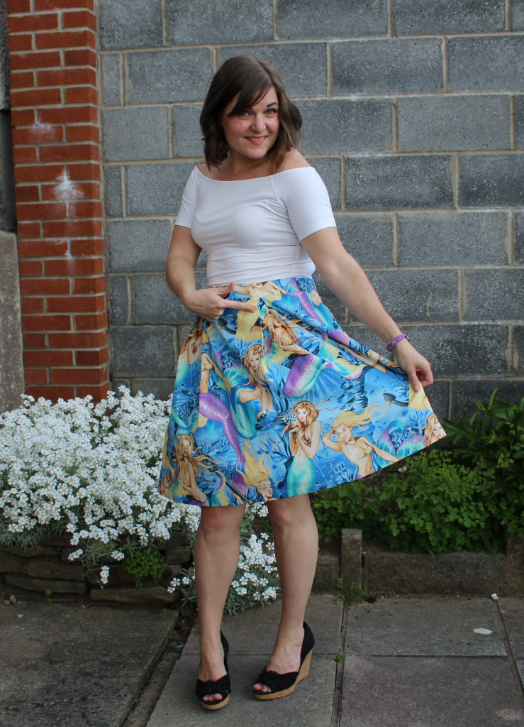 Simplicity 1418 skirt with petticoat