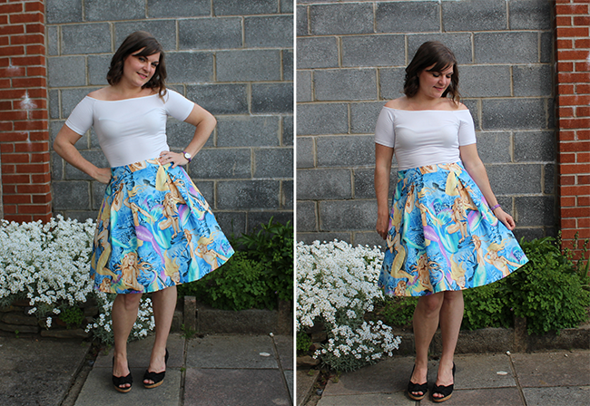 Simplicity 1418 skirt with petticoat montage