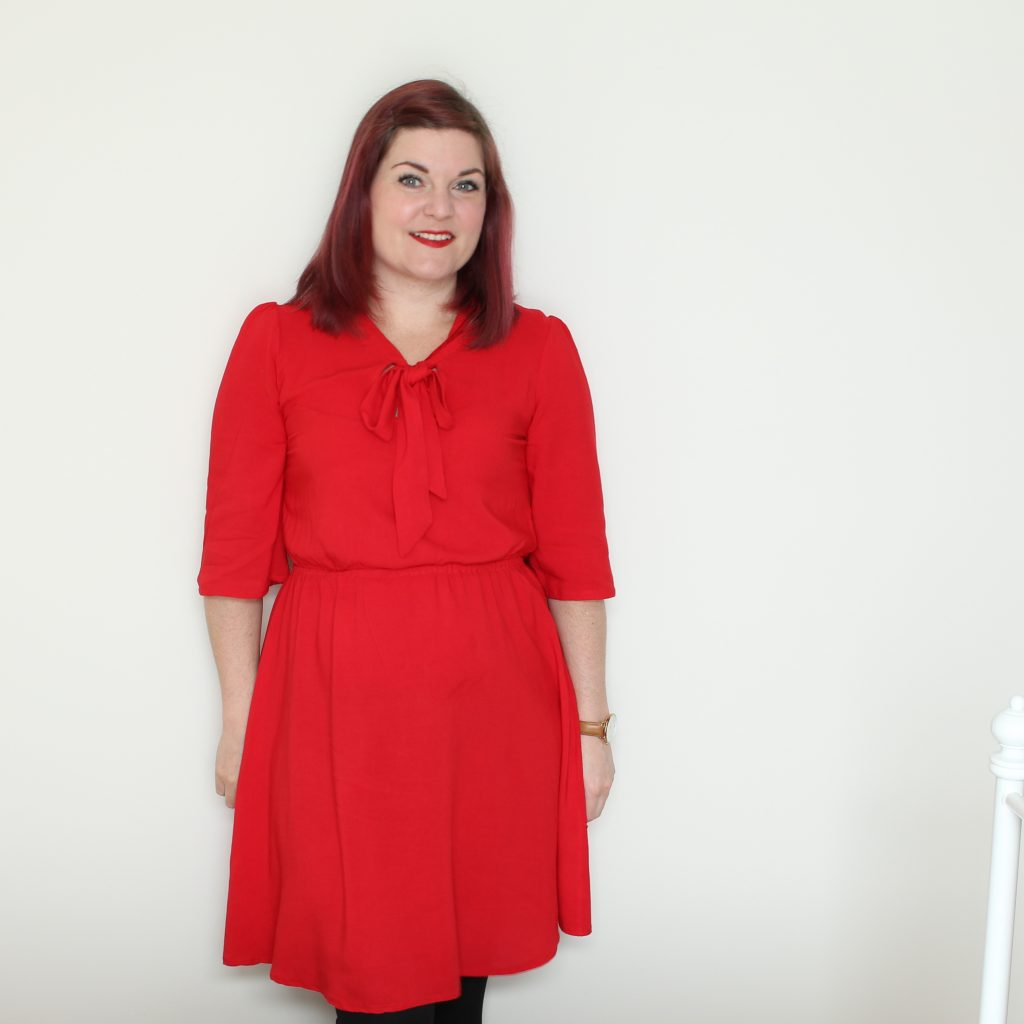 Red Simple Sew Lottie - True Bias Southport hybrid